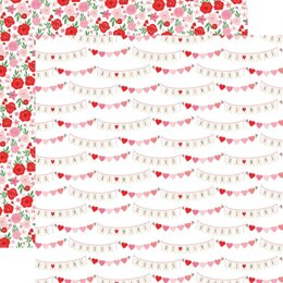"""Echo Park Paper Cupid & Co. Double-Sided Cardstock 12""""X12"""" - XOXO Banners"""