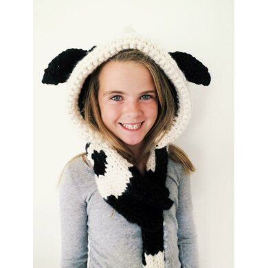Caldwell the Cow Hooded Scarf