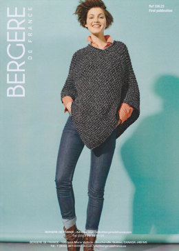 Short Poncho in Bergere de France Duvetine - 33623