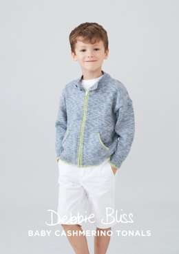 Oscar Jacket in Debbie Bliss Baby Cashmerino Tonals - DB170 - Downloadable PDF