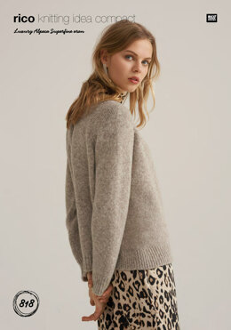 Sweater in Rico Luxury Alpaca Superfine Aran - 818 - Downloadable PDF
