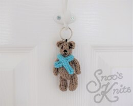 Free Teddy Bear Keyring Knitting Pattern Snoo's Knits