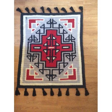 Large Klagetoh Rug with Fringe