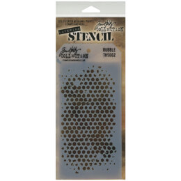 "Stampers Anonymous Tim Holtz Layered Stencil 4.125""X8.5"" - Bubble"