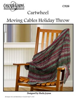 Moving Cables Holiday Throw in Cascade Yarns Cartwheel - C326 - Downloadable PDF