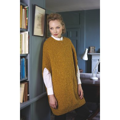 """Cocoon Tunic"" : Tunic Knitting Pattern for Women in Debbie Bliss Bulky 