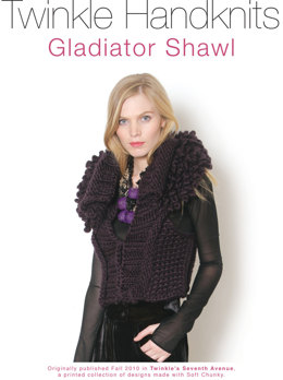 Gladiator Shawl Vest in Classic Elite Yarns Twinkle Soft Chunky - Downloadable PDF