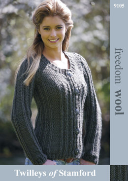 Rib Detail Jacket in Twilleys Freedom Wool - 9105