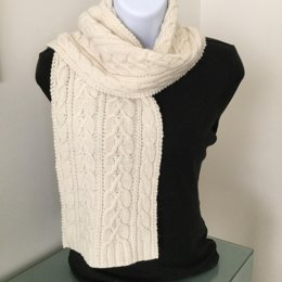 Canterbury Crossing Cables Scarf