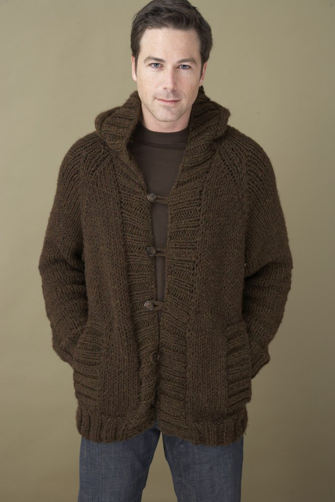 Saturday Morning Hoodie In Lion Brand Wool Ease Chunky