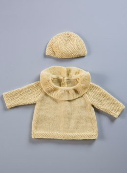 Babies Vest and Hat in Bergere de France Merinos 2,5  - 60376-02 - Downloadable PDF