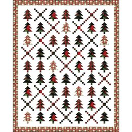 Michael Miller Fabrics Holiday Forest Quilt - Downloadable PDF