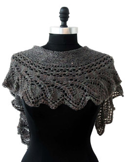 Whispering Waves Shawlette in Artyarns Ensemble Light - E232