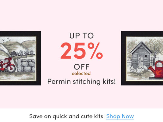 Up to 25 percent off selected Permin stitching kits!
