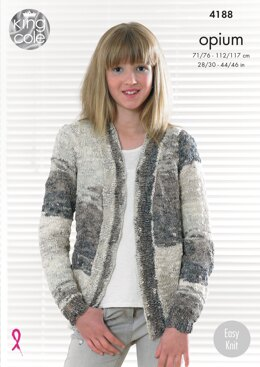 Edge to Edge Jacket and Waistcoat in King Cole Opium Pallet - 4188 - Downloadable PDF