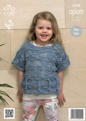 Girls' Sweaters in King Cole Opium - 3750