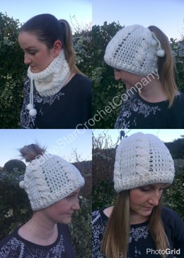 2 in 1 snood & hat