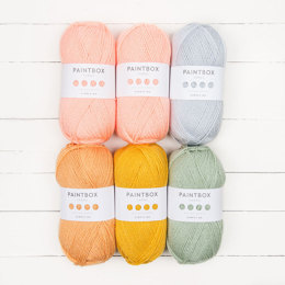 Betty's Blanket by Gabrielle Vézina - Paintbox Yarns Simply DK 6 Ball Colour Pack