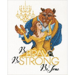 Dimensions Disney Princess Counted Cross Stitch Kit - Be Brave