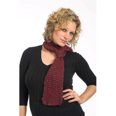 1 Hank Scarf in Plymouth Encore Chunky Tweed - F256