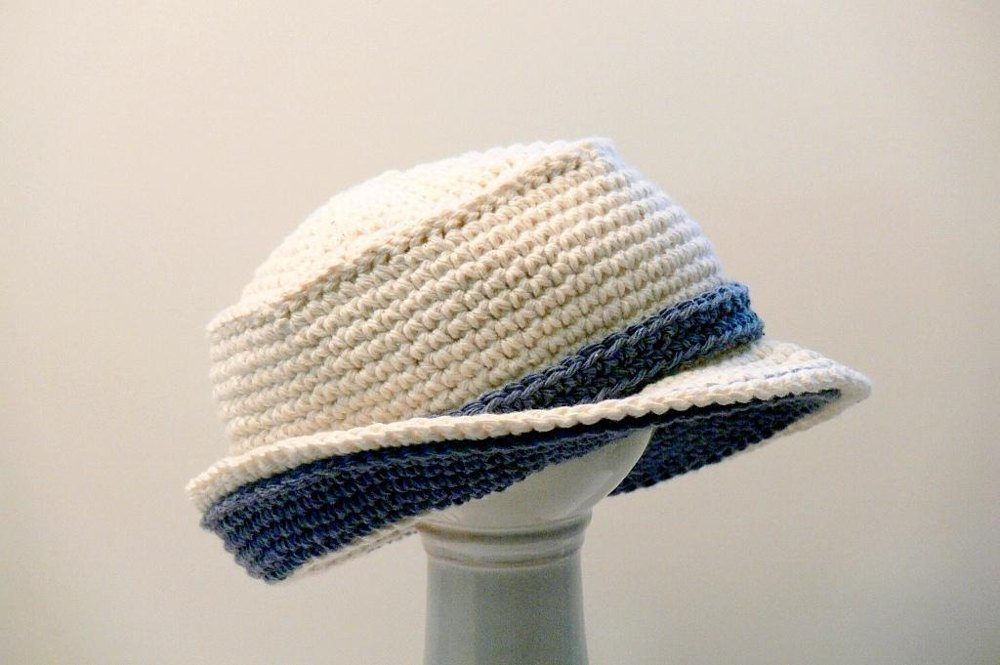 Boys Girls Mens Double Brimmed Crochet Hat Crochet