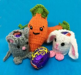 Carrot, Bunny & Mouse for cream eggs