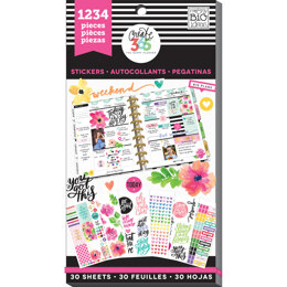 Me & My Big Ideas Happy Planner Sticker Value Pack - Today Is The Day, 1234/Pkg