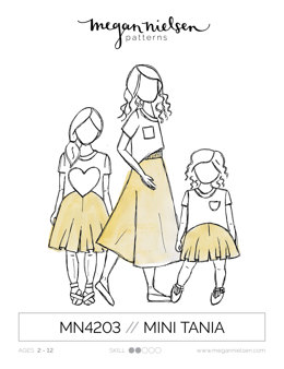 Megan Nielsen Mini Tania Trousers MN4203 - Sewing Pattern