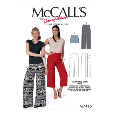 McCall's Misses' Shorts and Pants M7415 - Paper Pattern Size 6-8-10-12-14-16-18-20-22