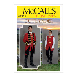 McCall's Mens' Costume M7824 - Sewing Pattern