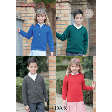 Cardigans and Jumpers in Sirdar Wash 'n' Wear Double Crepe DK - 2398