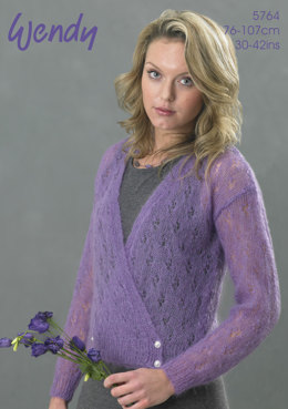 Crossover Cardigan in Wendy Air - 5764