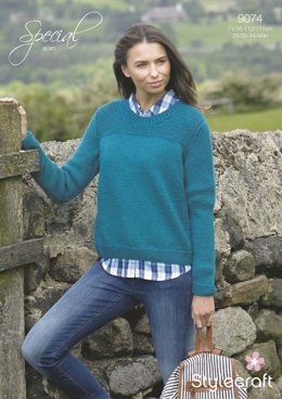 Womens' Simple Sweater in Stylecraft Special Aran