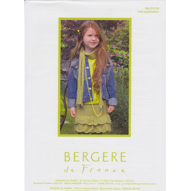 Skirt & Scarf in Bergere de France Angel - 31229