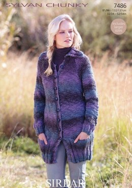 Coat in Sirdar Sylvan - 7486