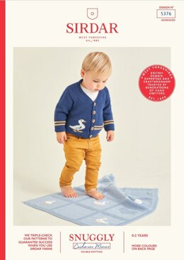 Baby's Cardigan and Blanket in Sirdar Snuggly Baby Cashmere Merino  - 5376 - Leaflet