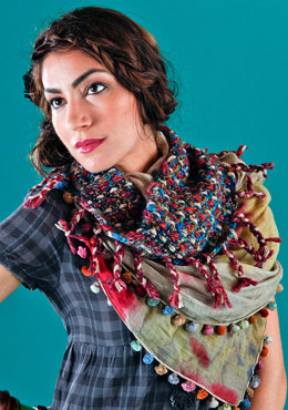 Prokop Cowl in Berroco Borealis, Blackstone Tweed Metallic & Campus Chunky