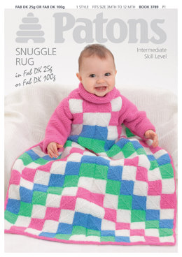 Patons Baby Snuggle Rug Leaflet - 3789