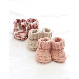 Baby's Booties in Bernat Handicrafter Cotton Solids