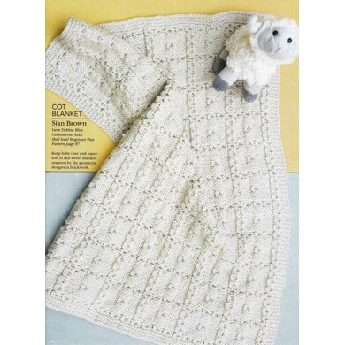Textured Squares Cot Blanket