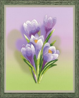 Riolis Crocus Satin Stitch Embroidery Kit