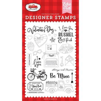 Echo Park Paper Cupid & Co. Stamps - Be Mine