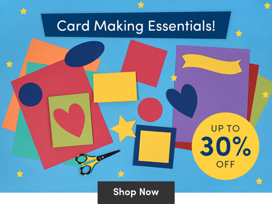 Up to 30 percent off supplies for card making!