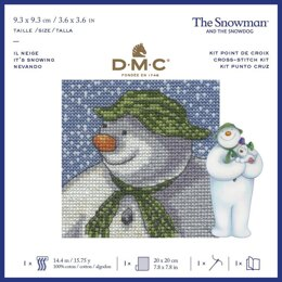 DMC The Snowman - It's Snowing Cross Stitch Kit