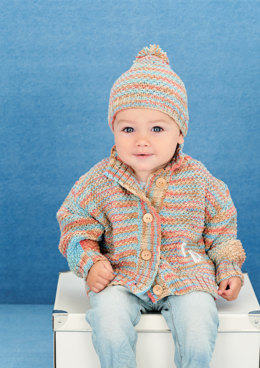 Jacket and Hat in Rico Baby Cotton Soft Prints DK and Soft DK - 398 - Leaflet