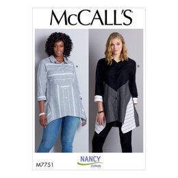 McCall's Misses' Shirts M7751 - Paper Pattern Size 6-8-10-12-14-16-18-20-22