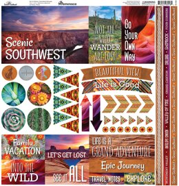 "Reminisce Elements Cardstock Stickers 12""X12"" - Scenic Southwest"
