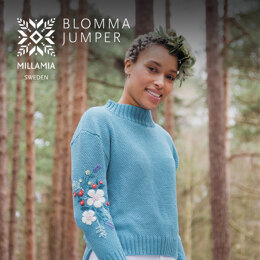 Blomma Jumper -  Jumper Knitting Pattern For Women in MillaMia Naturally Soft Cotton by MillaMia