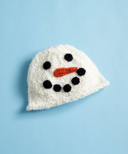 Snowman Hat in Lion Brand Holiday Homespun - 90147AD