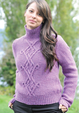 Chunky Celtic Pullover in Cascade 128 Superwash - C201